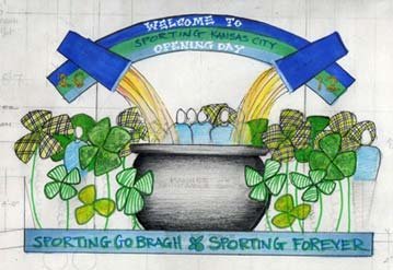 2012 Opening Day St. Patrick's Day Parade Float Design